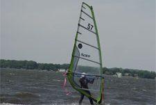 black cut vinyl number decals for windsurf regatta events
