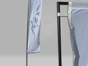 Rectangular Flying Flag size 14.6' with flag pole.