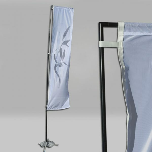 Rectangular Flying Flag size 14.6' with flag pole.