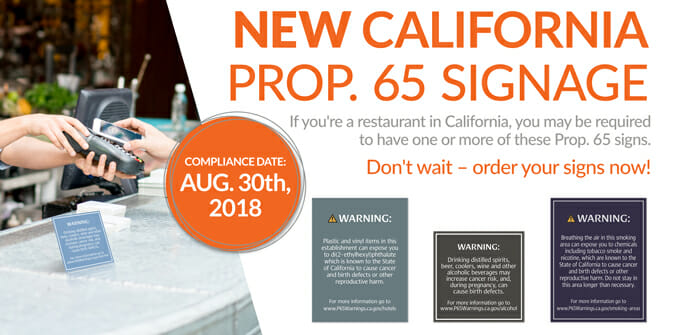 Proposition 65 Signs