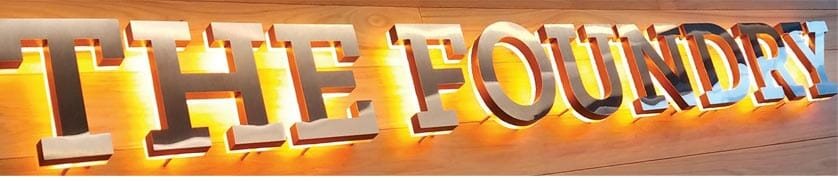 foundry for cast metal letters lighted letters