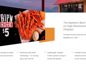 Modular High Resolution Color Display for outdoor food signage